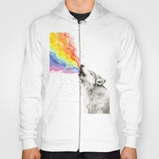 Wolf Rainbow Watercolor Howling Hoody