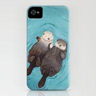 Otterly Romantic - Otter… iPhone (4, 4s) Slim Case