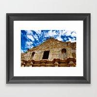 Remember The Alamo! Framed Art Print