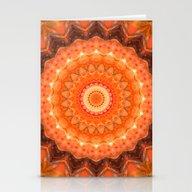 Mandala Orange Brown Stationery Cards