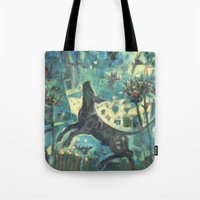 Dog In The Garden. Tote Bag