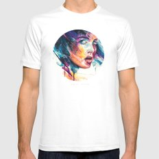 sheets of colored glass Mens Fitted Tee White SMALL