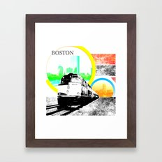 Locals Only - Boston Framed Art Print