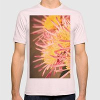 Autumn Fireworks Mens Fitted Tee Light Pink SMALL
