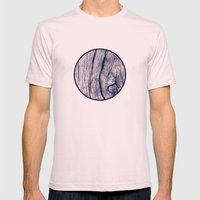 Wood 02 Mens Fitted Tee Light Pink SMALL