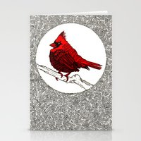 A Red Cardinal Stationery Cards