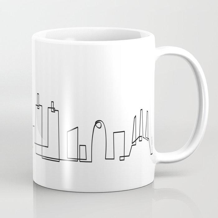 Barcelona skyline mug by pau ricart society6 for Mug barcelona