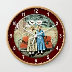 Two Cool Kitties: What's for Lunch? Wall Clock