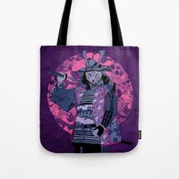 Samurai Kitty Tote Bag