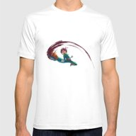 Rock Lee Mens Fitted Tee White SMALL