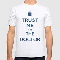 Trust Me I`m The Doctor Mens Fitted Tee Ash Grey SMALL