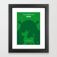 No280 My SHREK Minimal M… Framed Art Print