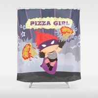 Pizzagirl Shower Curtain