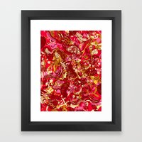 Red hot day Species Framed Art Print