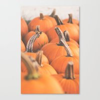 Pumpkin Season. Canvas Print