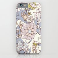 iPhone Cases featuring Garden party - jasmine tea version by Lidija Paradinović Nagulov - Celandine