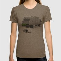 Accident On Sesame St.  Womens Fitted Tee Tri-Coffee SMALL