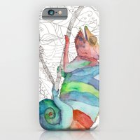iPhone & iPod Case featuring Chameleon Fail by Catherine Holcombe