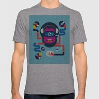 DJ Mens Fitted Tee Athletic Grey SMALL