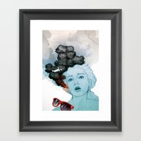Volcan-oh-no! Framed Art Print