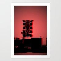 Tucson Bowl (red) Art Print