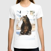 Chillin' Bear Womens Fitted Tee White SMALL