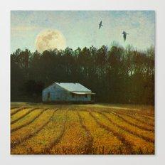 Fallow Moon Landscape Canvas Print
