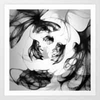 Datadoodle Flowers Art Print