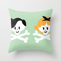 Teen Skulls Throw Pillow