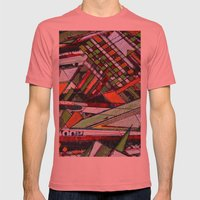 Urban sphere 01 Mens Fitted Tee Pomegranate SMALL