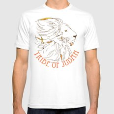 Judah White Mens Fitted Tee SMALL