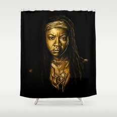 Michonne Golden Shower Curtain