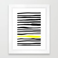 Neon Zebra Stripes Framed Art Print
