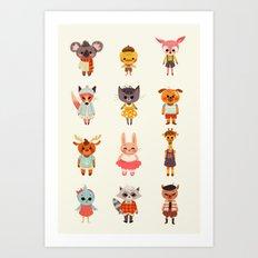 Animal Fashion Art Print