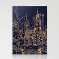 New York! Night Stationery Cards