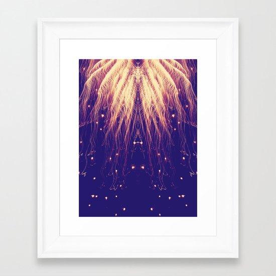 Fire Hair Framed Art Print