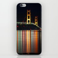 Mackinac Bridge at Night iPhone & iPod Skin