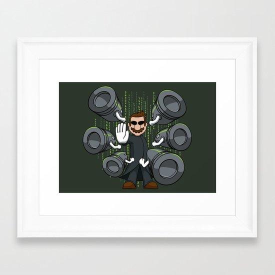 Bullet Time Bill Framed Art Print