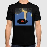 glazba v.2 Mens Fitted Tee Black SMALL