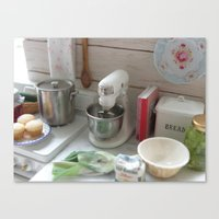 Cooking in Miniature  Canvas Print