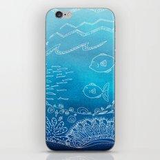 Wondersea Blue iPhone & iPod Skin