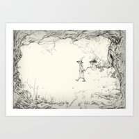 Witches on a Walk Art Print