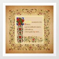 Oscar Scoffed The Roses Art Print