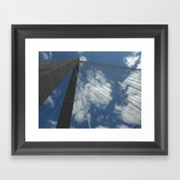 Ravenel Bridge, Charlest… Framed Art Print