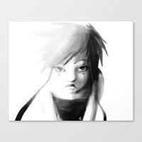 Grey Japanita Canvas Print
