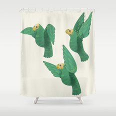Cotorras Shower Curtain