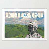 chicago Art Prints featuring Chicago by Scott Listfield