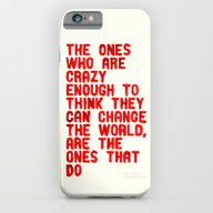 iPhone & iPod Case featuring The Crazy Ones by WRDBNR