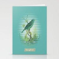 Songbird {Jade} Stationery Cards