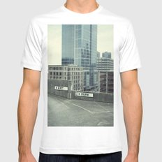 exit Mens Fitted Tee White SMALL